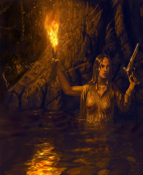 Robyn in the cannibal cave
