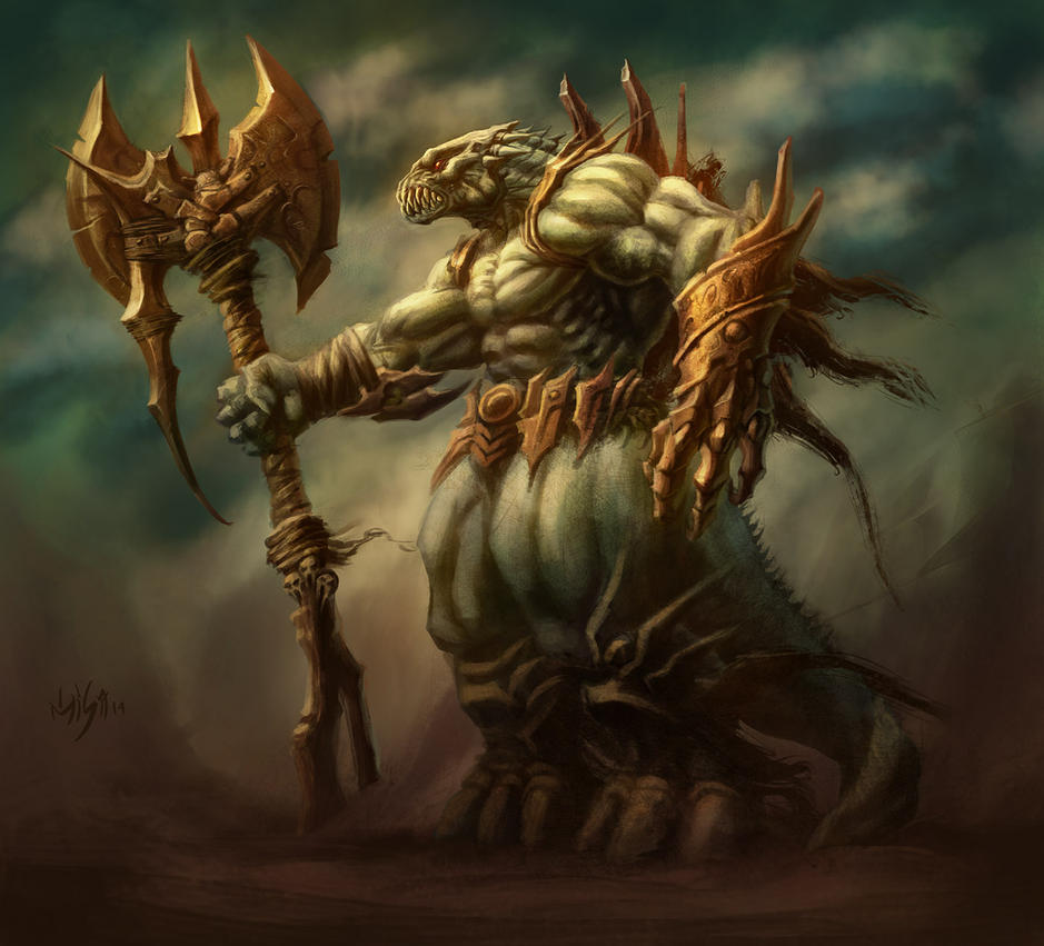 Big AXE warrior by elmisa on DeviantArt