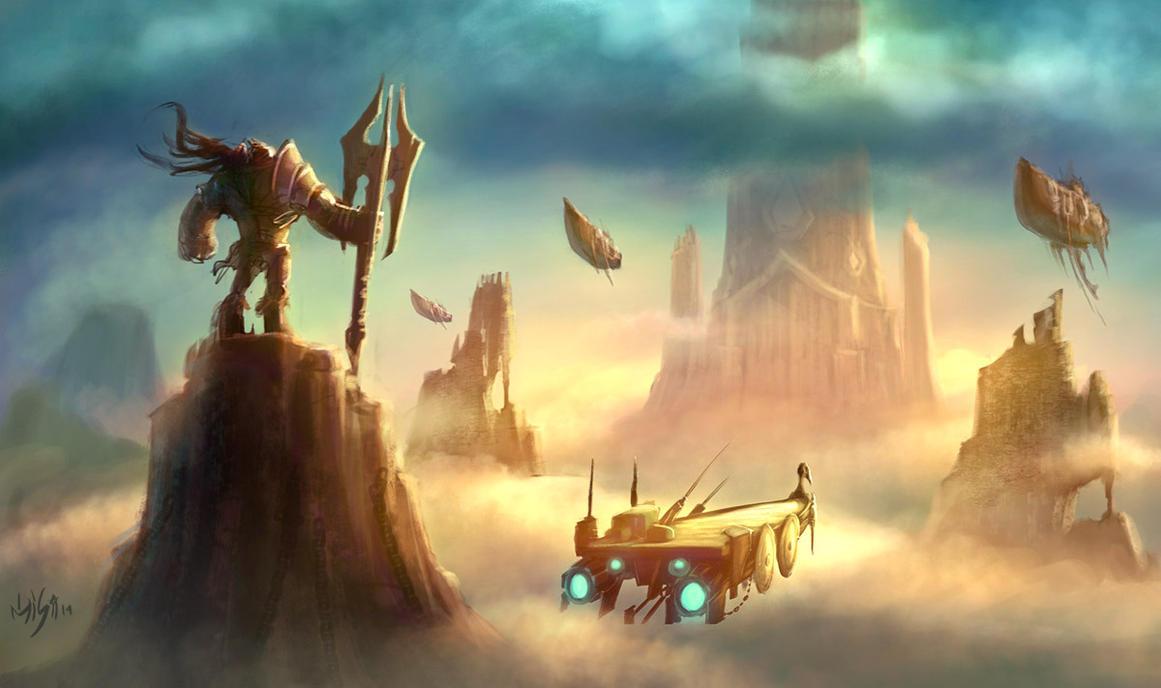 Medieval warrior scene 02 by elmisa