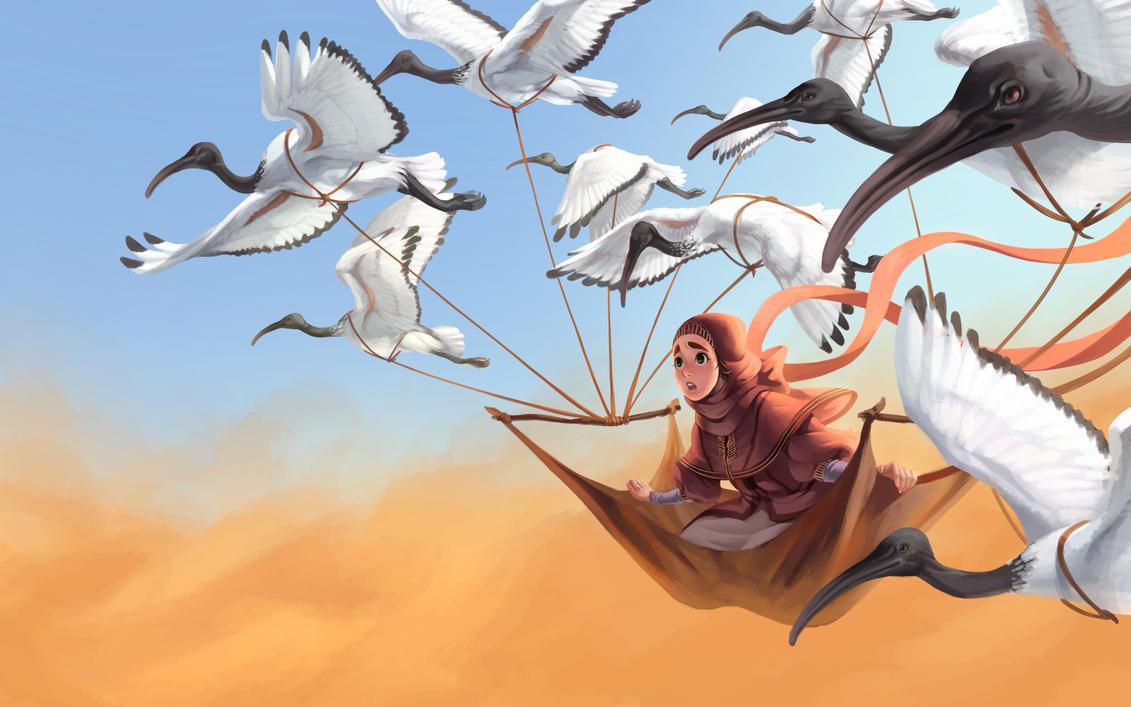 Wild Ibis- In flight by nebularum