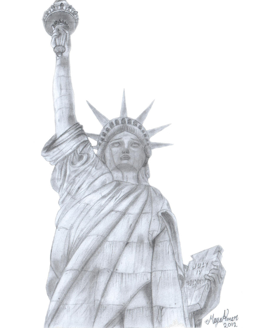 the statue of liberty by maya amer