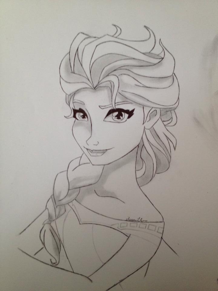 Queen Elsa by TallyCrusher
