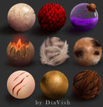spheres of materials