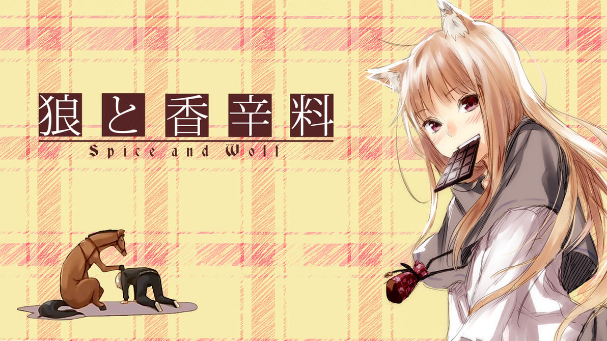 Spice and Wolf Wallpaper - Holo by yukate