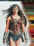 Gal Gadot / Wonder Woman - Color Pencil drawing