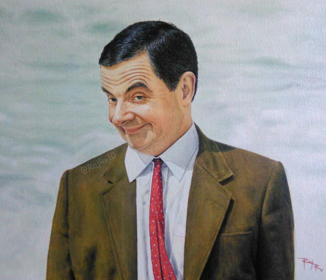 Mr Bean - Oil on Canvas