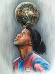 Ronaldinho - Oil on Canvas