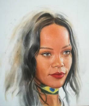 Rihanna - Oil on Canvas