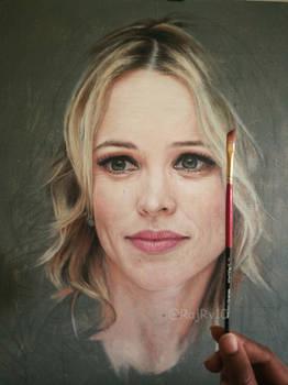Rachel McAdams - Oil on Canvas