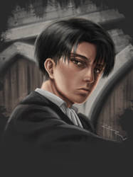 Levi Ackerman - Digital Anime Art