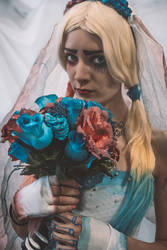 Corpse bride Emily - Harley Quinn version by Nyima-chan