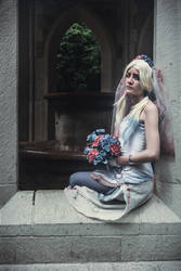 Corpse Bride Emily x Harley Quinn cosplay by Nyima-chan