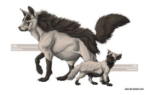 Poochyena and Mightyena by Atan