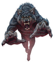 Jumping Werewolf by Atan