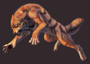 Obligatory snarly werewolf