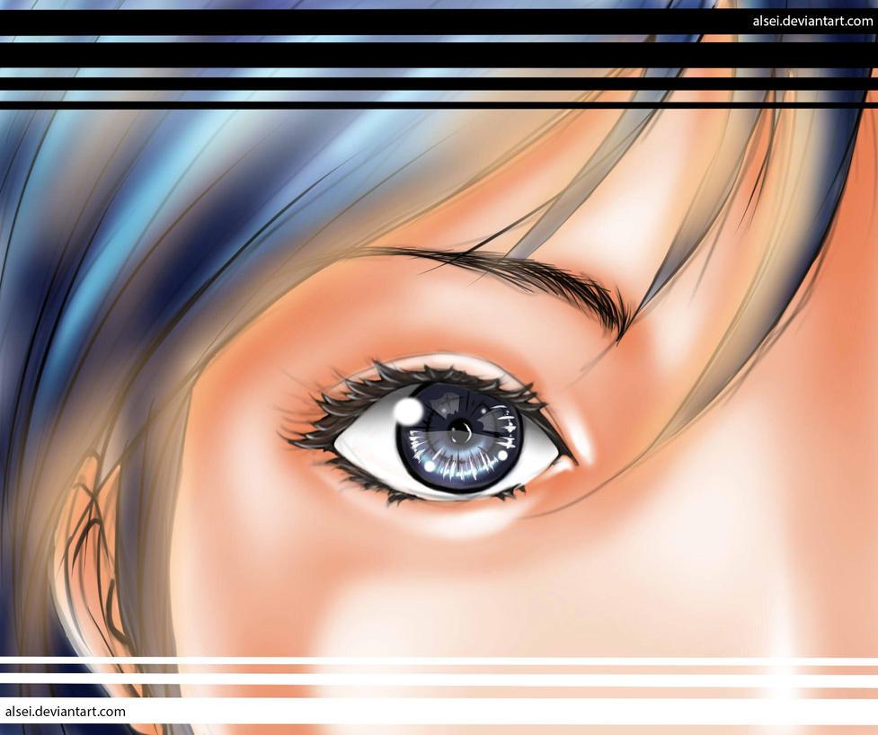 girl eye by alsei
