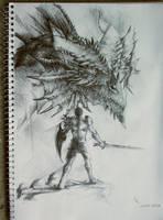 Dragonslayer vs Dragon by BrassDragon