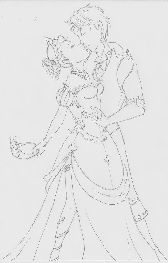 Line Art - Queen and King by