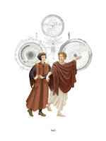 Dante and Virgil by ruebird