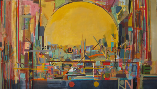 metropolitan sunshine by ChicagoLargeArt