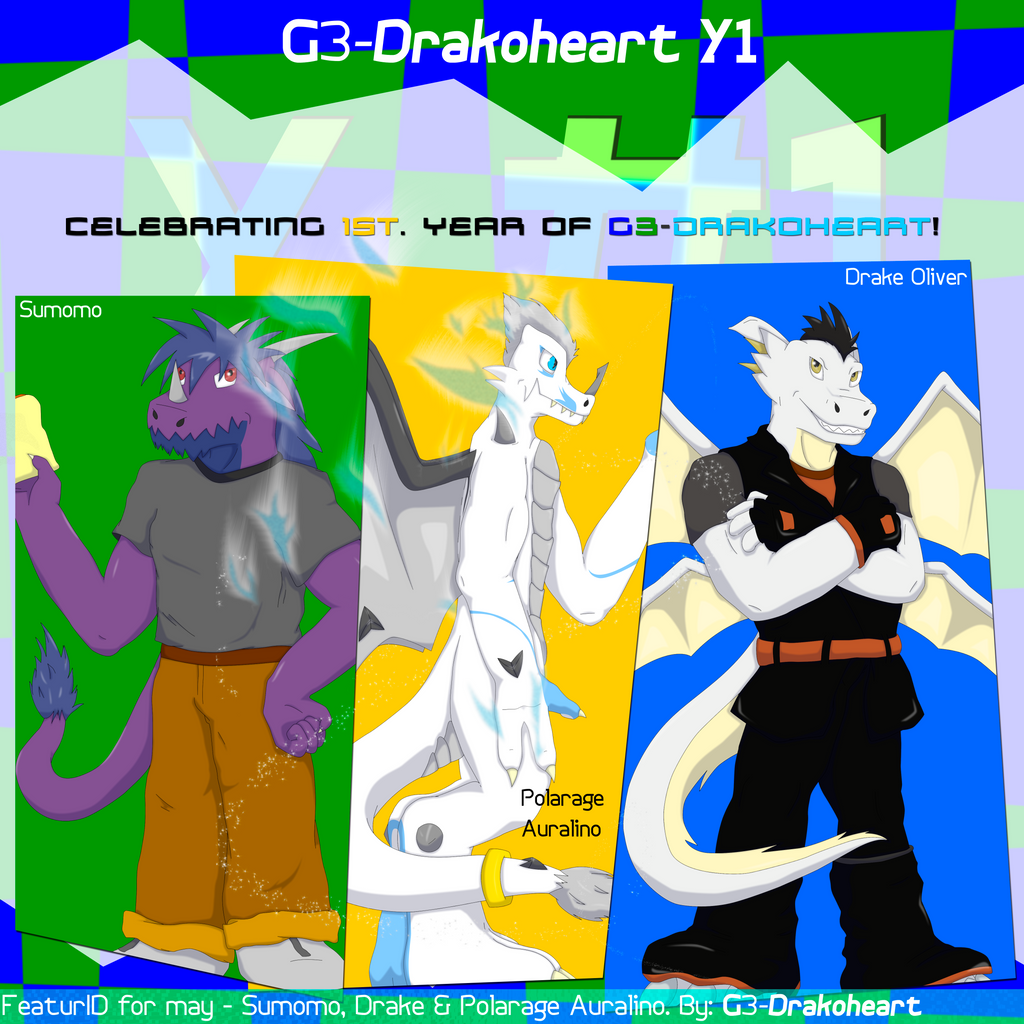 FeaturID may (commemorative edition, 1st. year) by G3Drakoheart-Arts