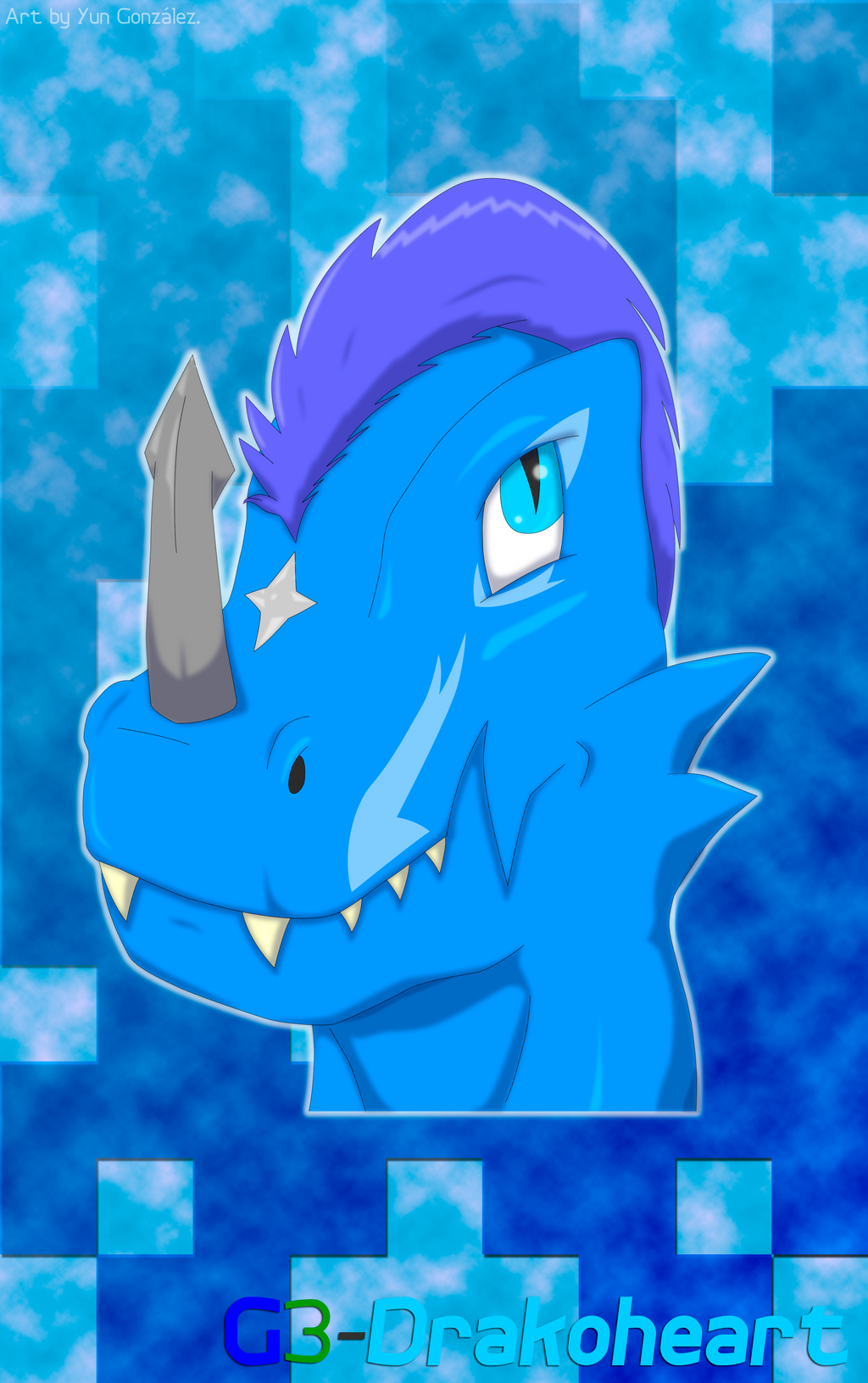 Auralino headshot avatar by G3Drakoheart-Arts