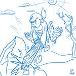 Nanokorimon strikes again | Digimon G2 Sketch'd