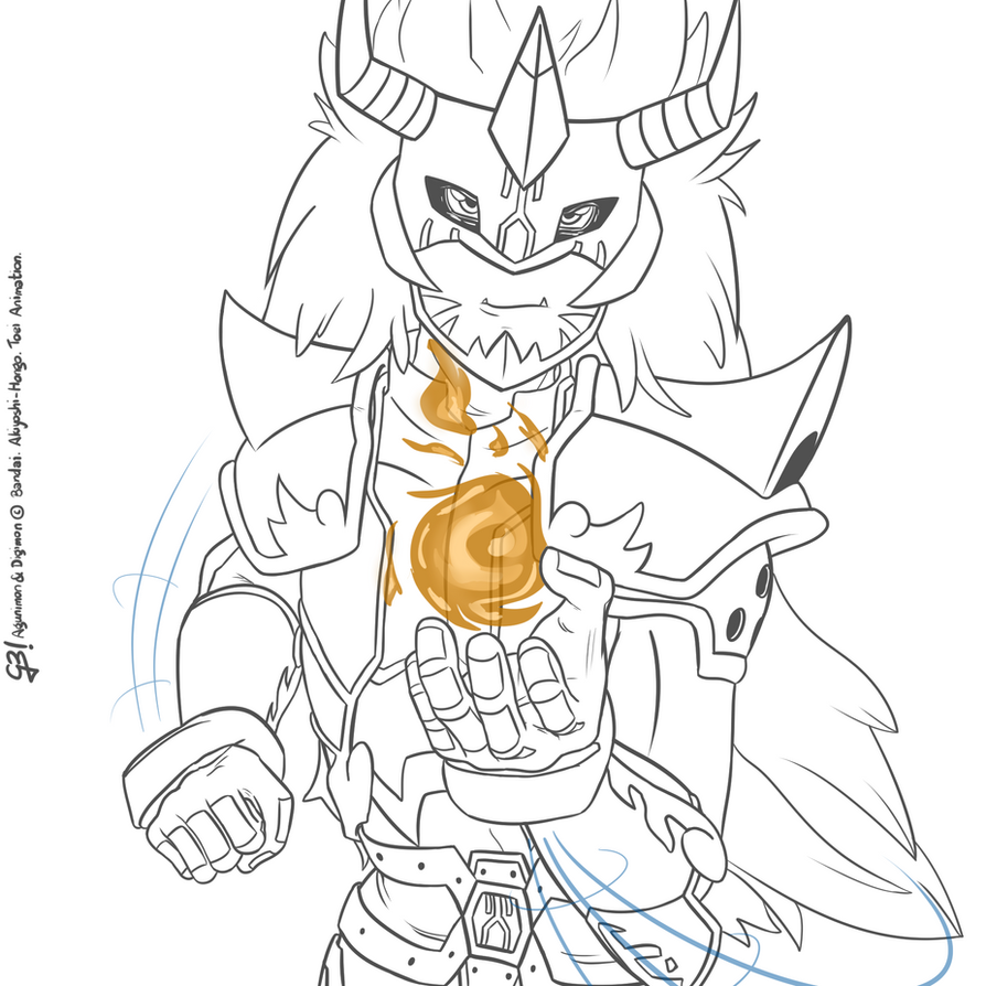Fire summoner | Digimon Frontier random lineart by G3Drakoheart-Arts