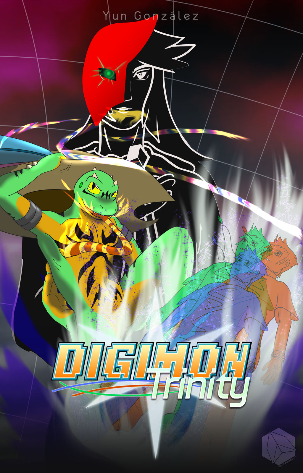 Digimon Trinity Book Cover | Drakoreader