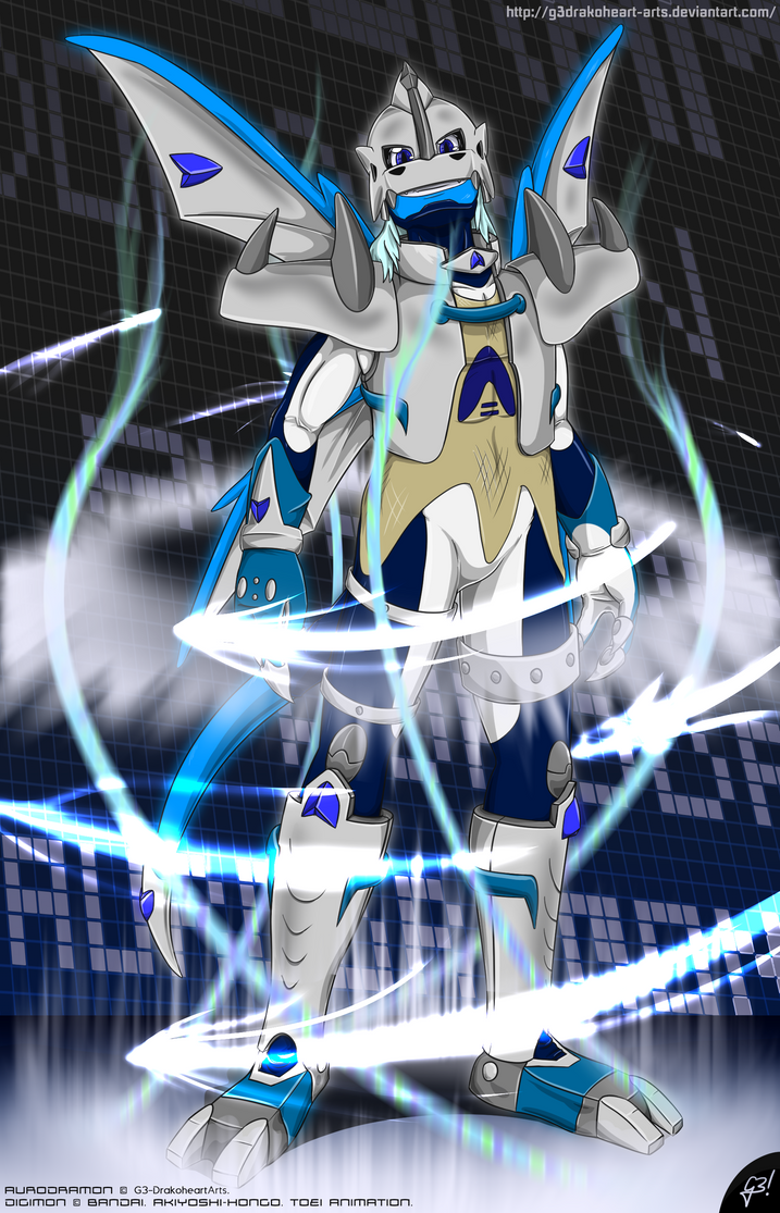 AuroDramon V3.0 | Digimon G2 presentation picture by G3Drakoheart-Arts