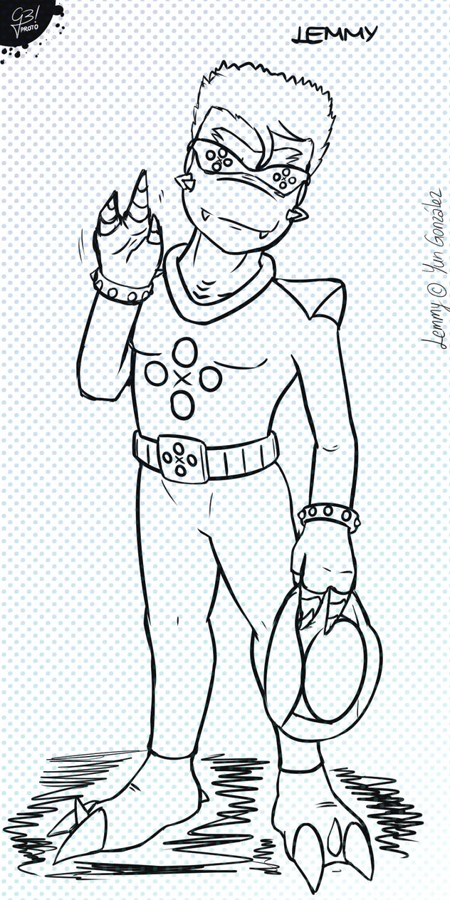 Lemmy - character prototype | S.E.R.V.E.R.S. by G3Drakoheart-Arts