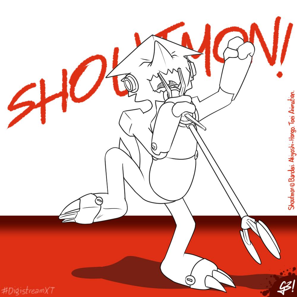 Singing Shoutmon!   #DigistreamXT by G3Drakoheart-Arts