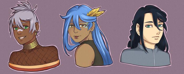 Illya, Ptoh and Yusuke