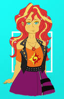 Sunset Shimmer new oufit by albertbm