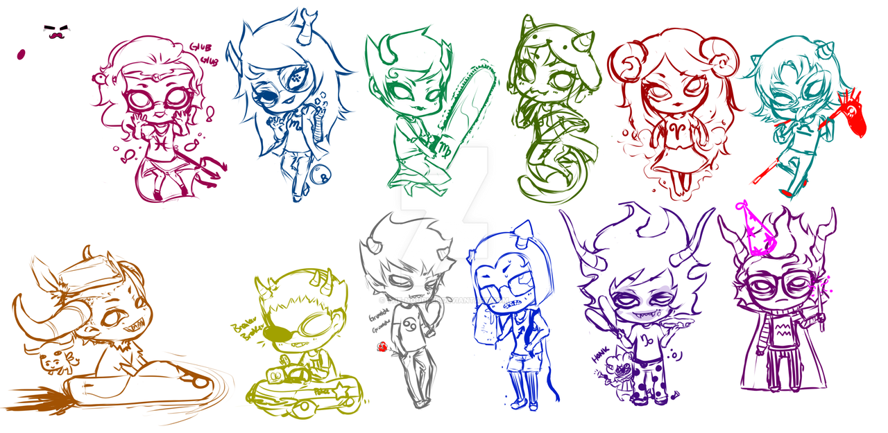 Homestuck trolls sketches by the noodles on deviantart homestuck trolls sketches by the noodles ccuart Gallery