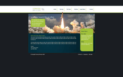 Concise Design, Homepage