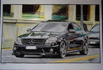 Mercedes Benz C63 AMG Colored Draw
