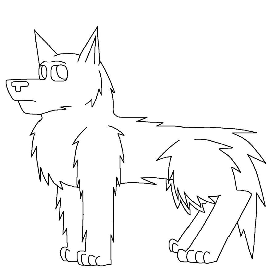 Wolf Head Outline