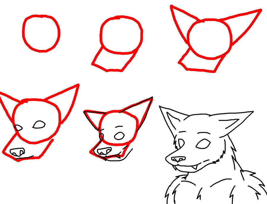 How To Draw A Werewolf Head