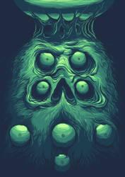 Beard Eyes Skull by LeandroMassai
