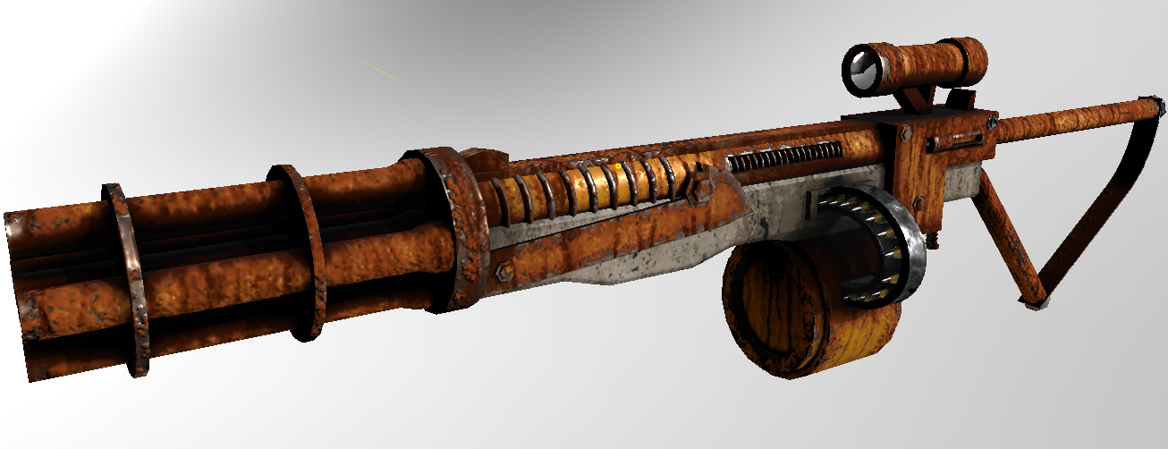 Fallout 4 Pipe Rifle Gatling Gun - Lighting by Wolfaye77 on