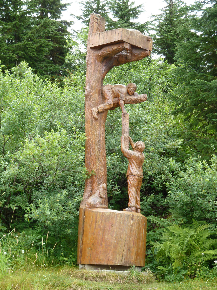 Chainsaw carvings by raindroppe on deviantart
