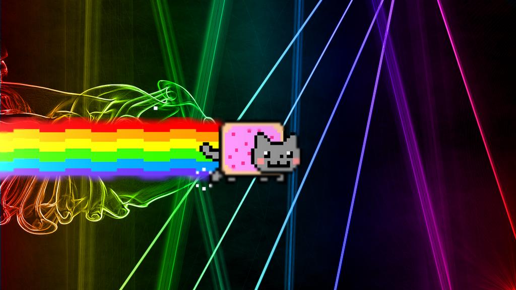 Neon Cat Wallpaper Design Templates