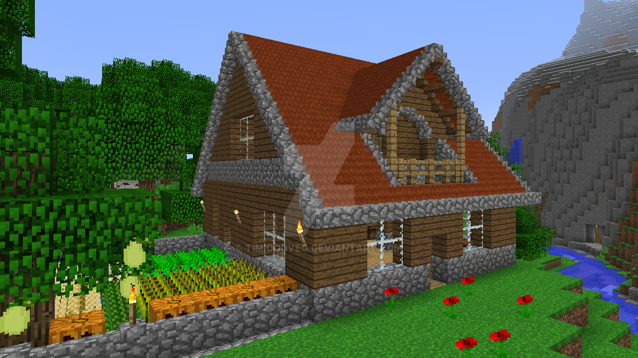 Minecraft - Wooden house by Timidouveg on DeviantArt