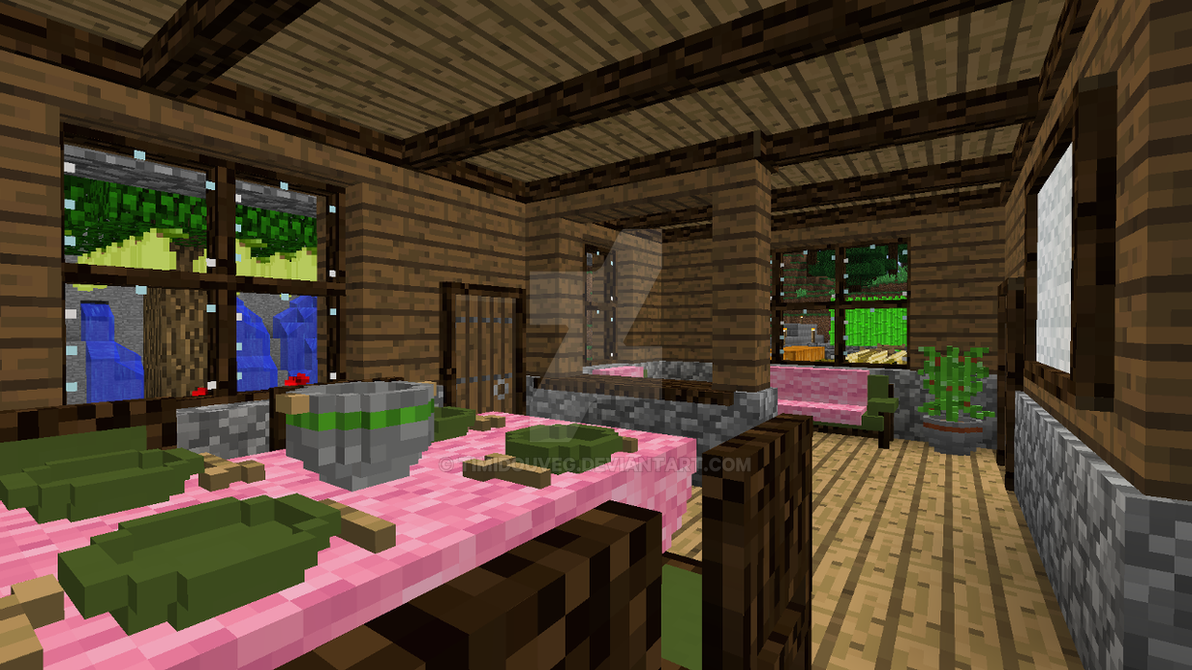 Minecraft   Dining And Living Room By Timidouveg ...