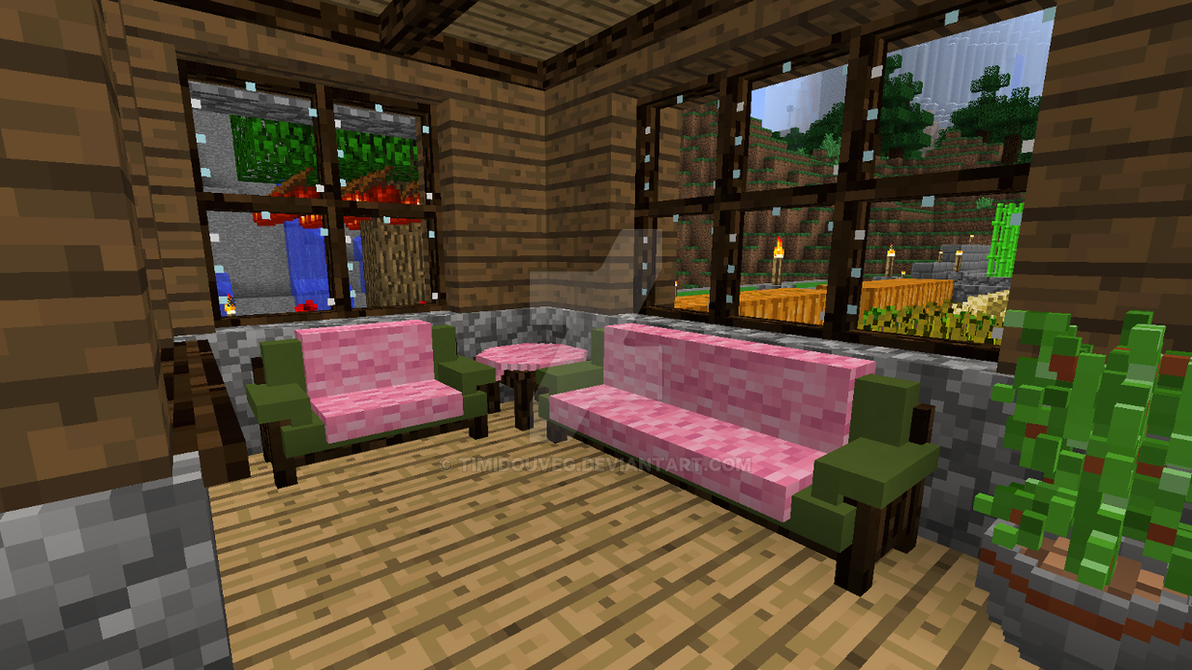 Minecraft   Living Room By Timidouveg ...