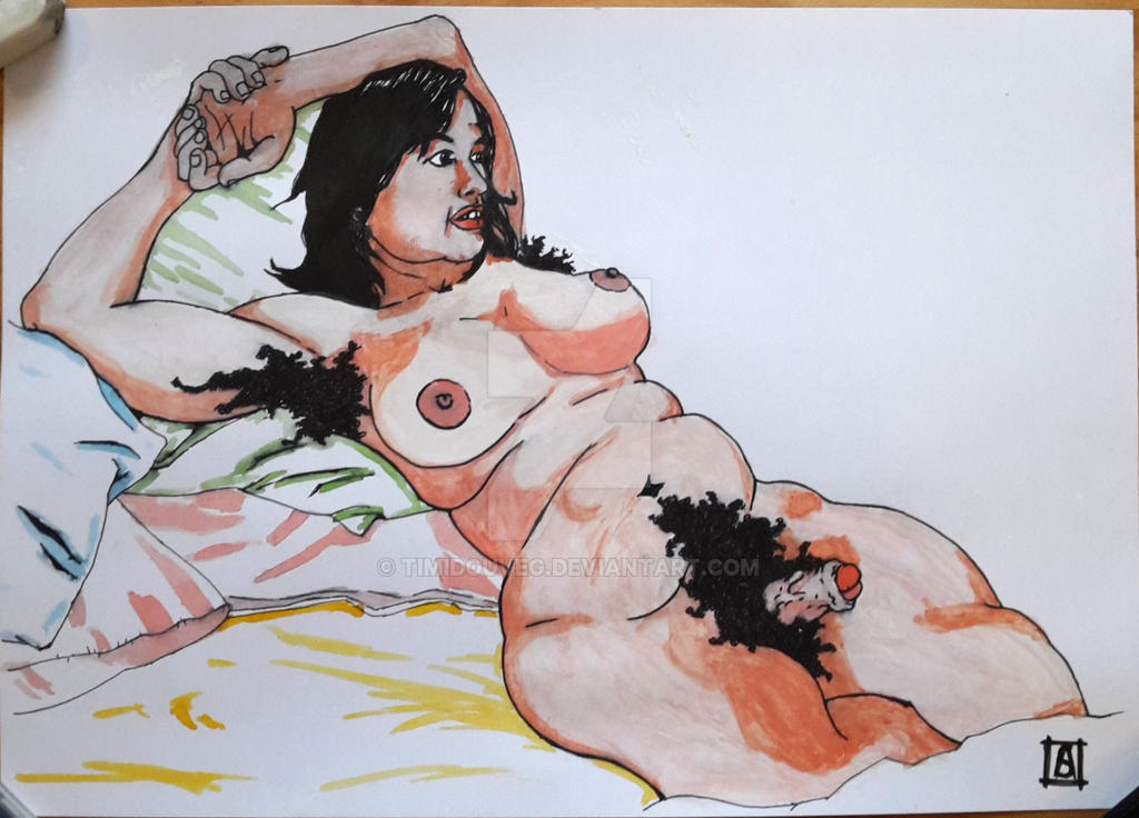 Femme sur oreillers / woman on pillows by Timidouveg