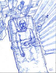 Broken superhero sketchy by 133art