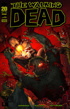 the Walking Dead #100 cover in color