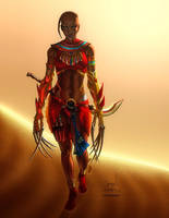Daughter of Sekhmet LG Color Final lo res by 133art